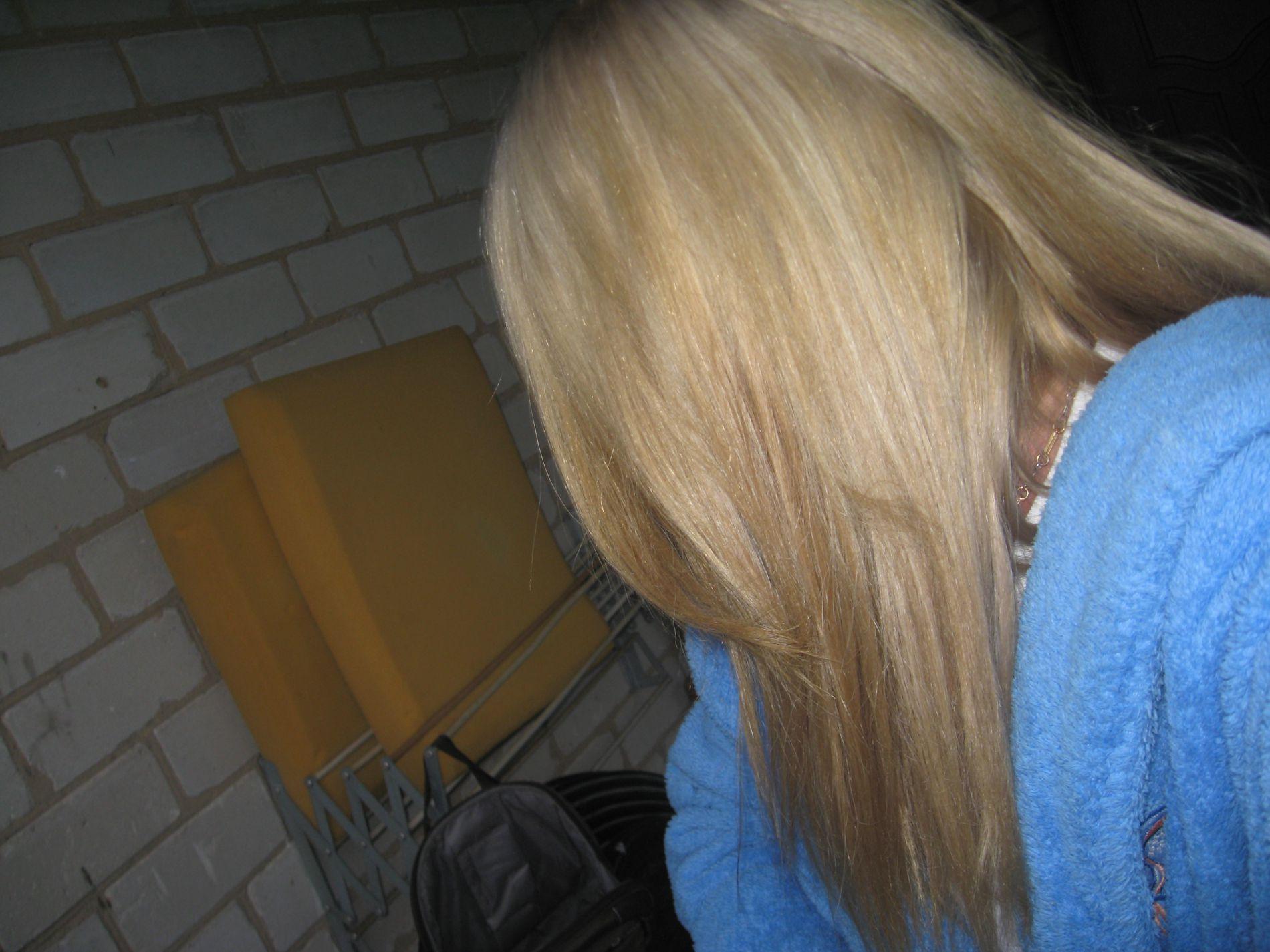 Из темно русого в блондинку