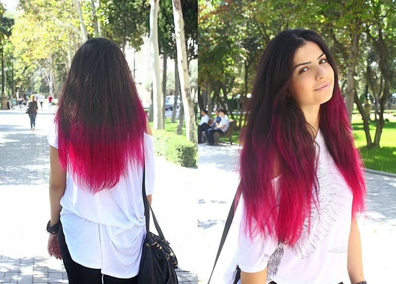 Покрасить тоником волосы