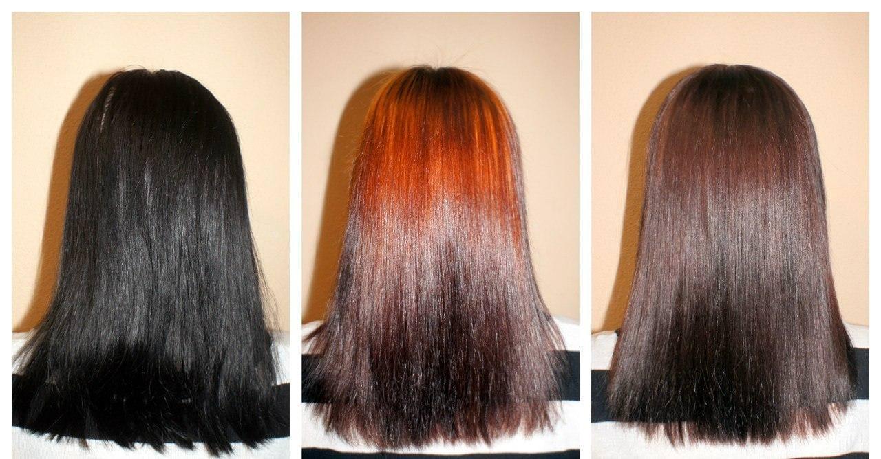 Как смыть в домашних условиях темную краску с волос