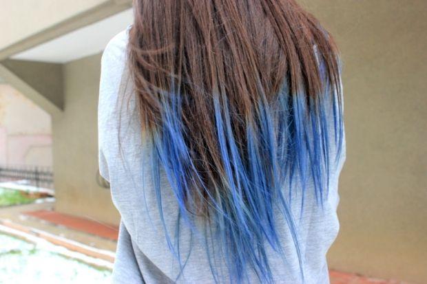 Как покрасить кончики волос тоником? Временная красота