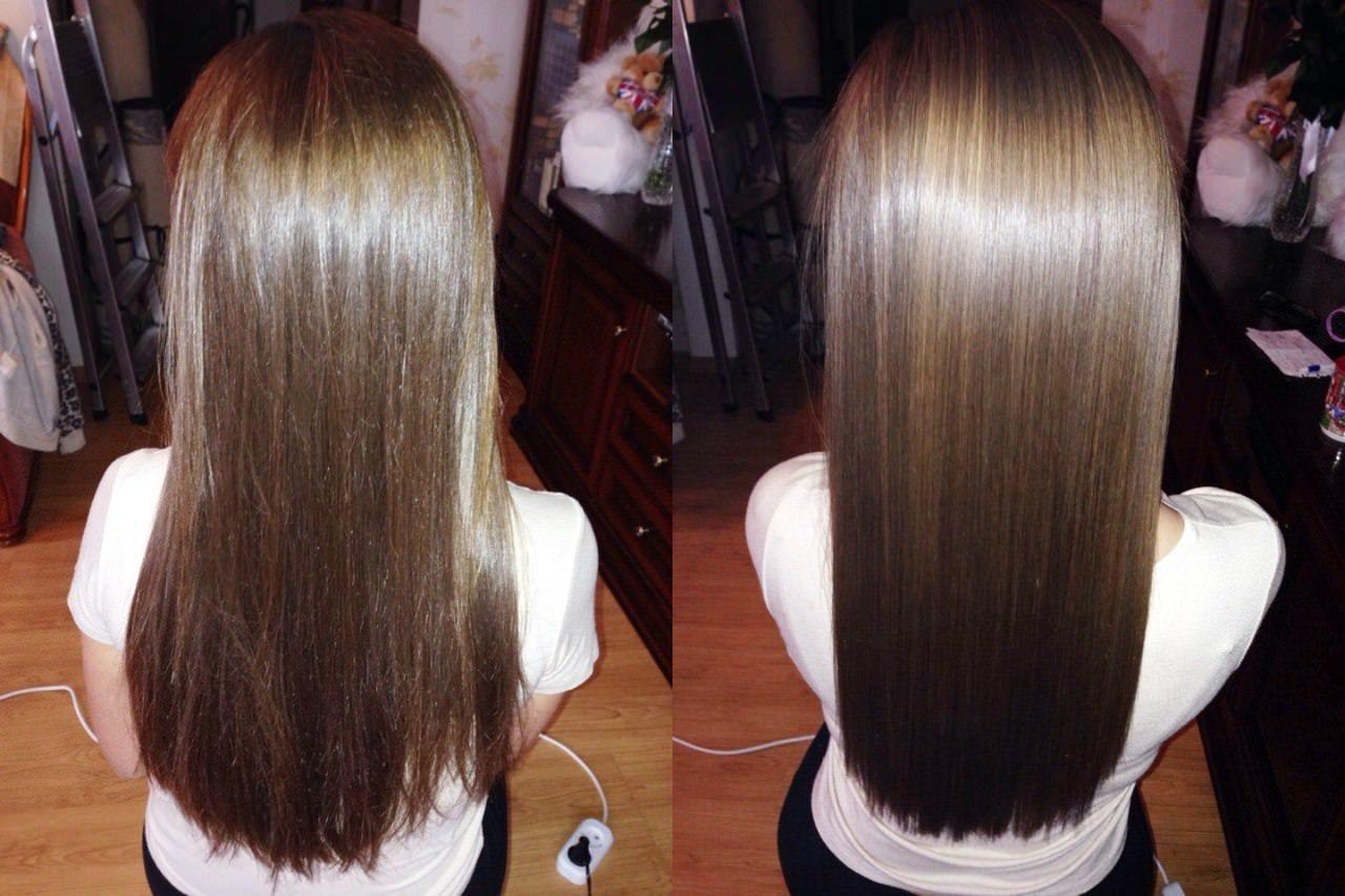 Как происходит кератиновое выпрямление волос