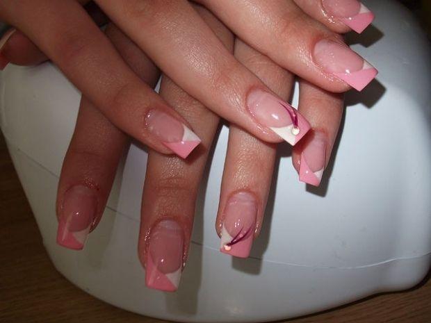 Фото маникюр на квадратные ногти
