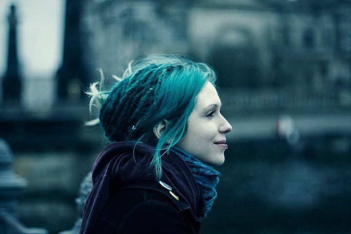 зеленые волосы после хны