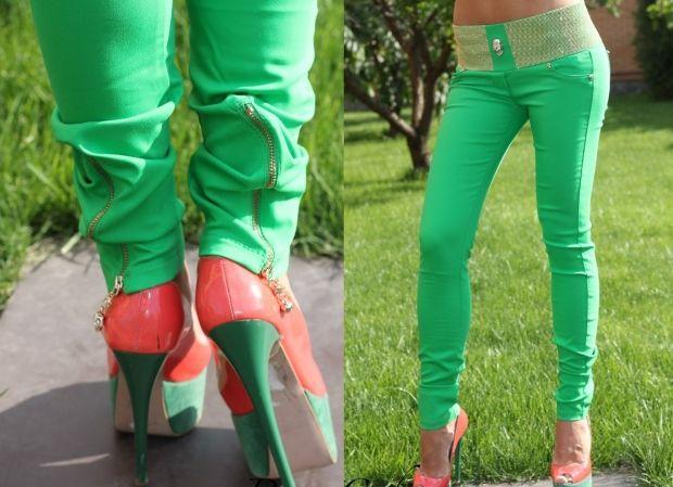 С чем носить салатовые брюки? Привлекательный образ