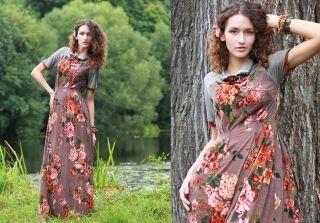 С чем носить длинное трикотажное платье? Простая классика