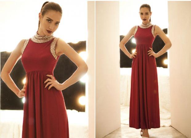 С чем носить бордовое платье? Всегда в тренде моды