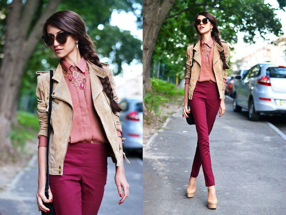 С чем носить бордовые джинсы? Когда цвет обязывает