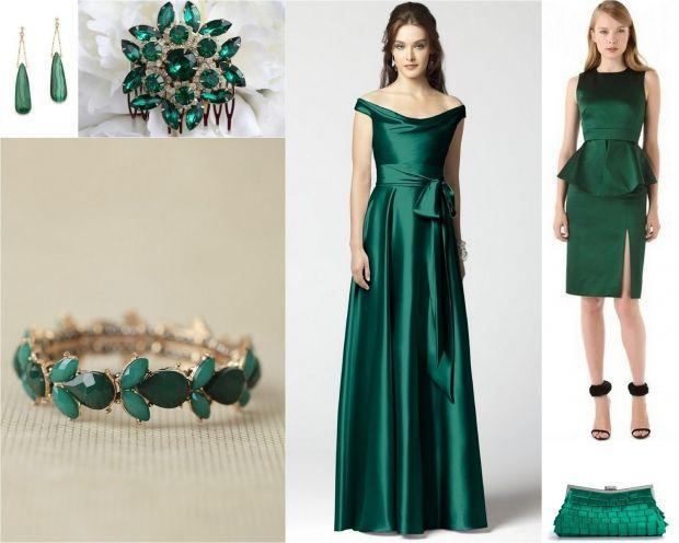 С чем носить изумрудное платье? Универсальные советы стилистов