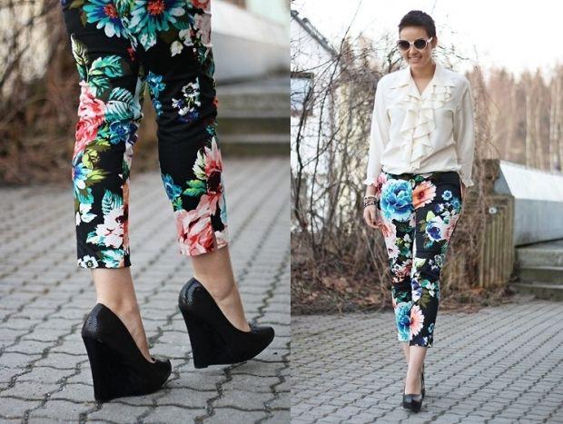 С чем носить джинсы с цветочным принтом? Будь в тренде