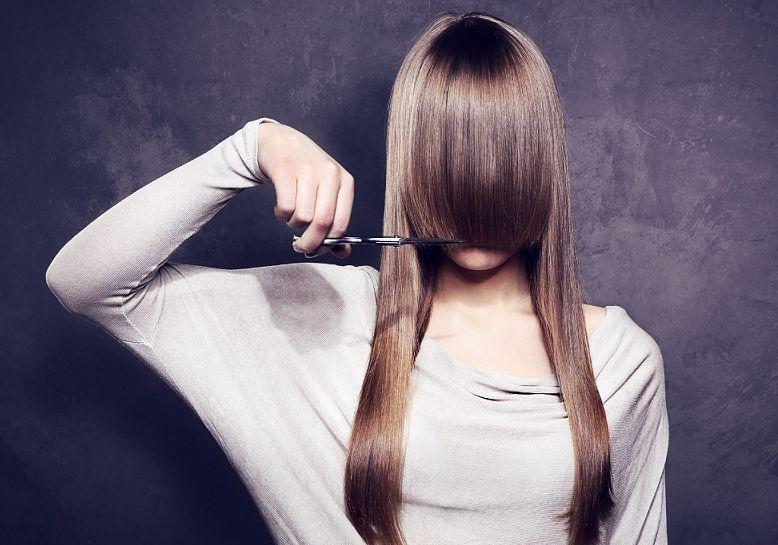 как подстричь кончики