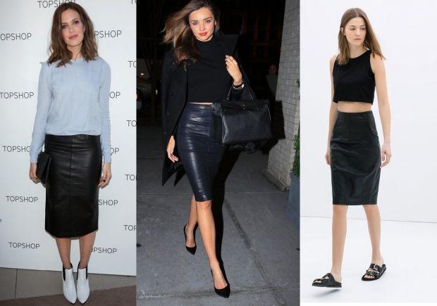 С чем носить кожаную юбку-карандаш? Для любительниц необычного