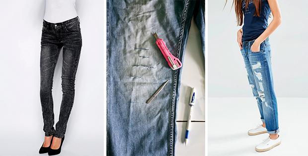 Как состарить джинсы в домашних условиях? Стильно, модно, дешево