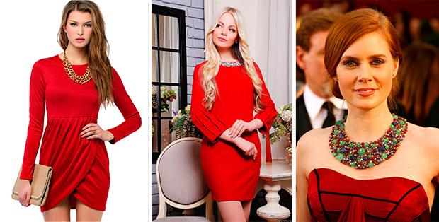 cbffd04ae9522ce Какие украшения подойдут к красному платью? Как не выглядеть деревней