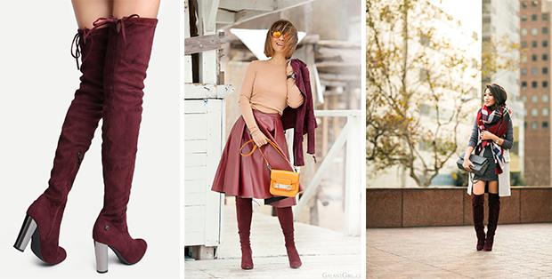 С чем носить бордовые сапоги? Психология цвета