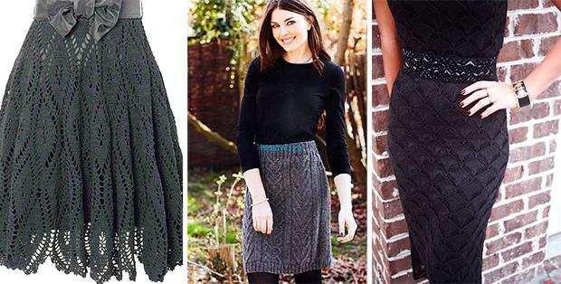 С чем носить вязаную юбку? Очень нестандартный образ