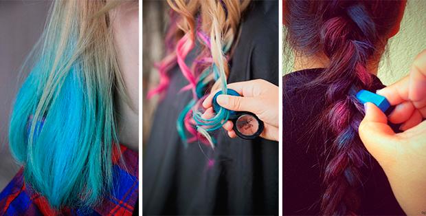 Как покрасить волосы мелками? Делай это правильно