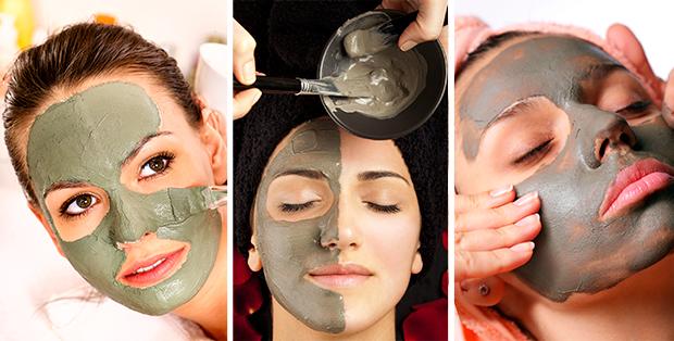 маска из зеленой глины для лица купить
