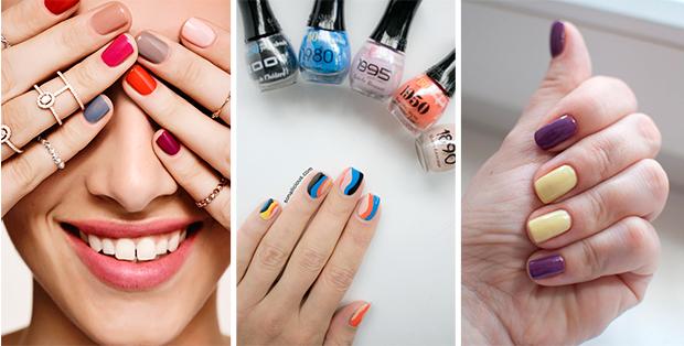 Сочетания цветов фото ногти