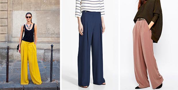 С чем носить брюки-палаццо? Классика возвращается