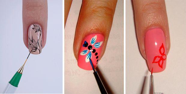 Как сделать акриловыми красками на свои ногти