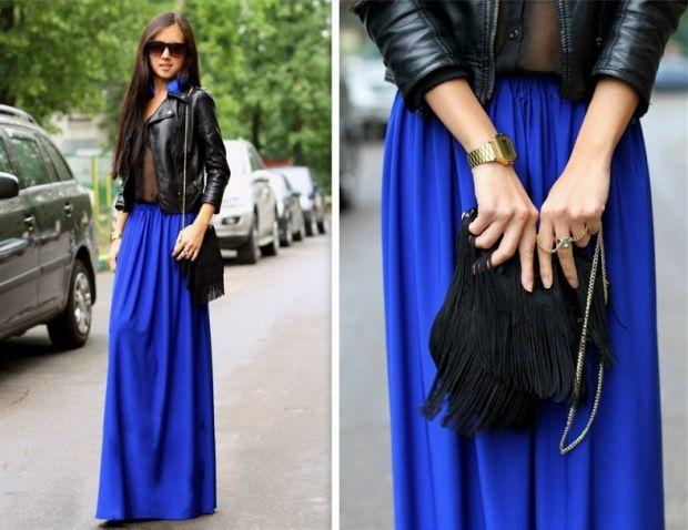 С чем носить синюю юбку макси? Когда проблемы с выбором
