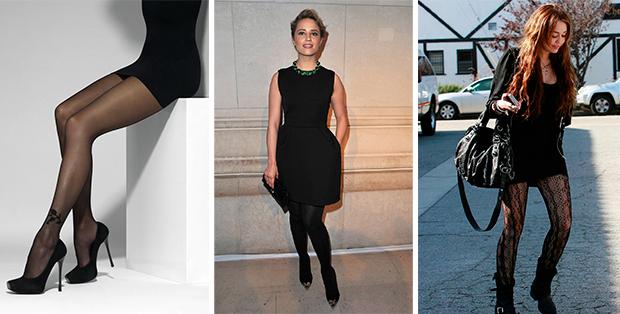 С какими колготками носить черное платье? Элегантность стиля