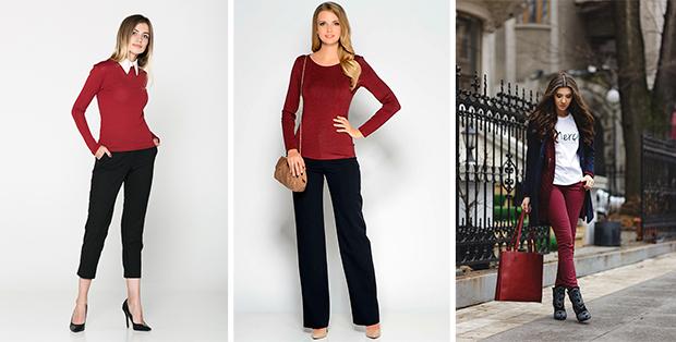 С какими цветами сочетается бордовый в одежде? Советы от стилистов