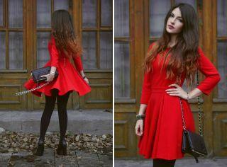 Какой цвет сочетается с красным в одежде? Капризная красота