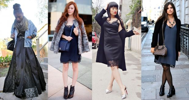 С чем носить платье комбинацию? Составляем правильный образ
