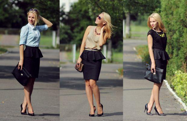 С чем носить юбку с баской? Создаем идеальный образ